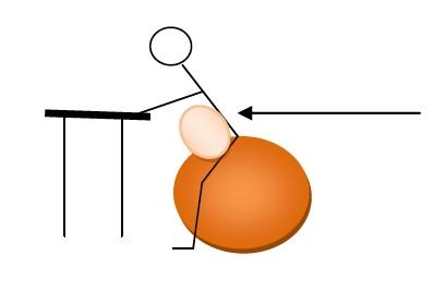 Antéversion sur le ballon et massage