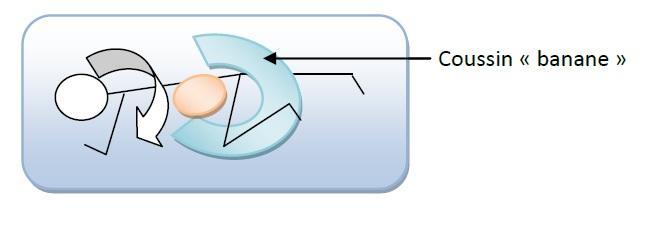 Décubitus latéral avec coussin