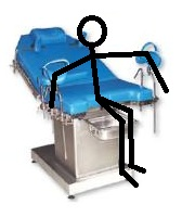 Position sur la table d'accouchement